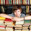 Teenager with books — Stock Photo
