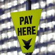 Stock Photo: Pay here
