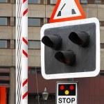 Bridge sign lights — Stock Photo #8038158