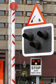 Feux de pont signe — Photo