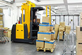 Forklift stacker — Stock Photo