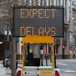 Expect delays — Stock Photo
