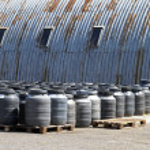 Industrial barrels — Stock Photo