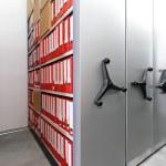 Ring binder storage — Stock Photo