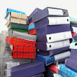 Ring binders pile — Stock Photo