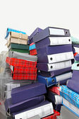 Ring binders pile — Stockfoto