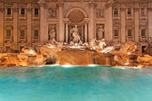 Fountain Trevi night — Stock Photo
