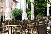 Café terrace — Stock fotografie