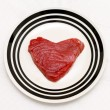 Tuna heart — Stock Photo