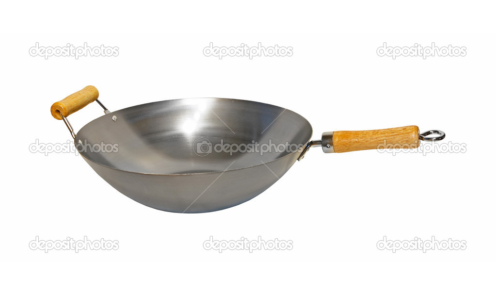 China wok pan isolated included clipping path — Stock Photo #8281577