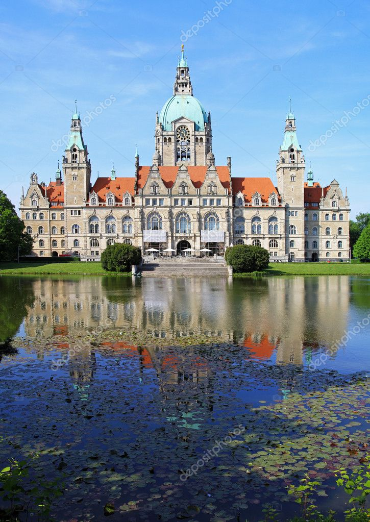 New town hall building in Hannover Germany  Stock Photo #8669287