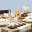 Table setting — Stockfoto