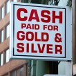 Cash for gold — Stockfoto