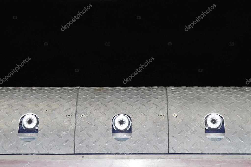 Transport cameras with LED lights in speed bump — Stock Photo #8974490