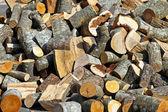 Yakacak odun günlükleri — Stok fotoğraf