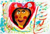 Liebe zeichnen — Stockfoto
