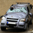 Stock Photo: Crushed SUV