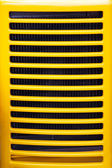 Yellow radiator grill — Stock Photo