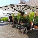 Rooftop garden — Stock Photo