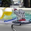 Stock Photo: Pool cleaning equipment