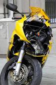 Zgnieciony motocykl — Zdjęcie stockowe