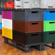Color crates - Stock Photo