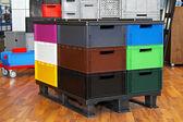 Caixas de cor — Fotografia Stock