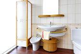 Rattan toilet — Stock Photo
