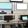 Stock Photo: Security surveillance desk