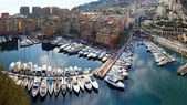 Fontvieille harbour Monaco — Stock Photo
