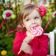 Little girl with lollipop - Photo