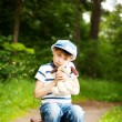 Boy in the forest — Stock Photo #9310997