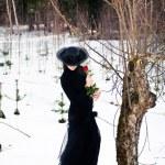 Lady in black — Stock Photo