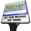 Advertise Sign Outdoor Advertisement Message Store - Stock Photo