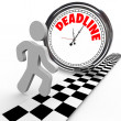 Racing Against Deadline Clock Time Countdown - Stock Photo