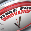Time for Innovation Clock Need for Change and Ideas — 图库照片