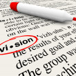 Vision Word Dictionary Definition Leadership Success - Stock Photo