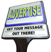 Advertise Sign Outdoor Advertisement Message Store — Stock Photo