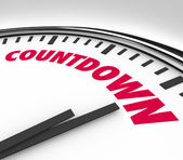 Countdown Clock Counting Down Final Hours and Minutes — Stock Photo