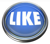 Like Blue Button Approval or Positive Review — Stock Photo