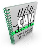 Self-Help You Can Do It Book Positive Attitude Confidence — Stock Photo