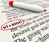 Vision Word Dictionary Definition Leadership Success — Stock Photo