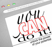 You Can Do It Self Help Website Screen — Stock Photo