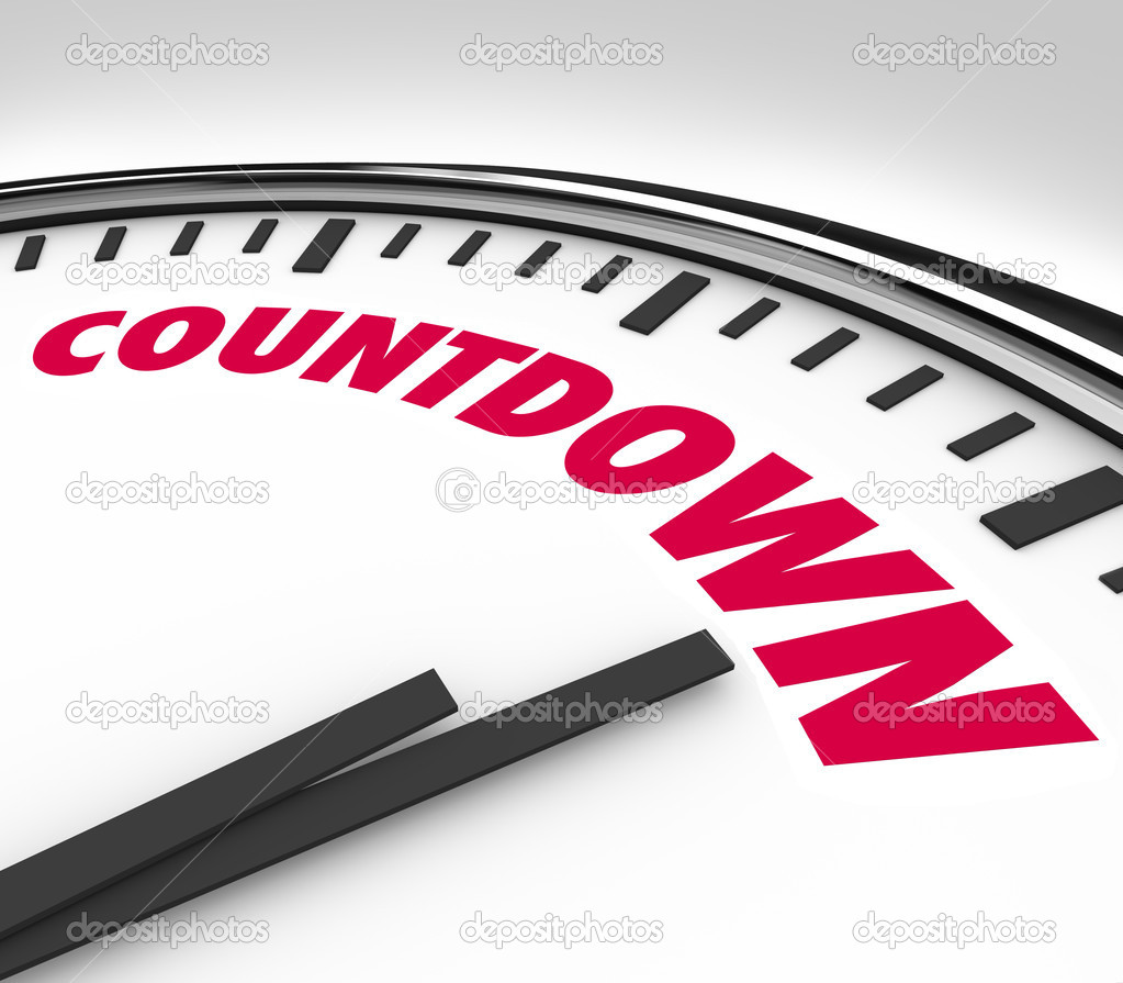 Countdown clock counting down final hours and minutes for Country house com