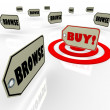Buy Price Tag Best Choice Many Options Shopping — Stockfoto