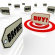 Buy Price Tag Best Choice Many Options Shopping — Stock Photo