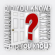 Stock Photo: Did You Know Door Opening to Knowledge Facts Trivia