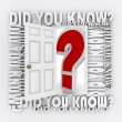 Did You Know Door Opening to Knowledge Facts Trivia — Stock Photo