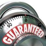 Guaranteed Combination Lock Promise Assurance — Stock Photo