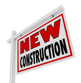 New Construction House for Sale Sign Home Real Estate — Stock Photo
